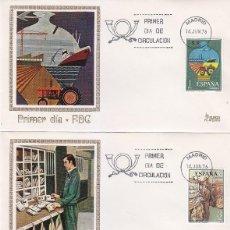 Sellos: SERVICIOS DE CORREOS 1976 (EDFIL 2329/32) EN CUATRO SOBRES PRIMER DIA MUNDO FILATELICO MADRID. RAROS. Lote 114582703