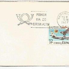 Briefmarken - BARCELONA 1977 FDC SPD IBERIA AVION PLANE AIR LINES - 114624715