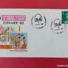 Sellos: SOBRE, EXPO FILATELICA ESPAÑA EUROPA - ESPAMER 80 - MATASELLOS, BILBAO 3 AL12 OCT1980 .... R-8672. Lote 115391383