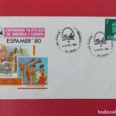 Sellos: SOBRE, EXPO FILATELICA ESPAÑA EUROPA - ESPAMER 80 - MATASELLOS, BILBAO 3 AL12 OCT1980 .... R-8673. Lote 115391451