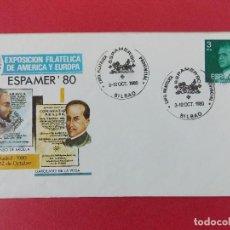 Sellos: SOBRE, EXPO FILATELICA ESPAÑA EUROPA - ESPAMER 80 - MATASELLOS, BILBAO 3 AL12 OCT1980 .. R-8675. Lote 115391511