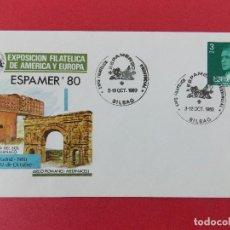 Sellos: SOBRE, EXPO FILATELICA ESPAÑA EUROPA - ESPAMER 80 - MATASELLOS, BILBAO 3 AL12 OCT1980 .. R-8677. Lote 115391615