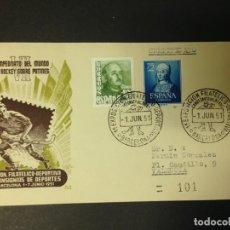 Sellos: VII CAMPEONATO DEL MUNDO DE HOCKEY SOBRE PATINES 1951. Lote 115635887