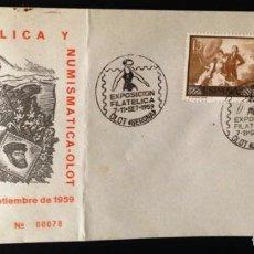 Sellos: EXPOSICION FILATELICA Y NUMISMATICA OLOT 1959. Lote 116123791