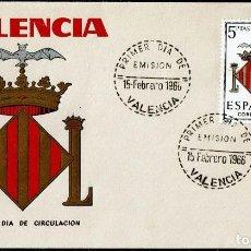 Sellos: ESCUDO DE VALENCIA PRIMER DIA EMISION 1963. Lote 116496627