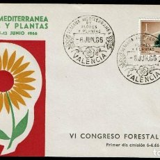 Sellos: VI CONGRESO FORESTAL MUNDIAL VALENCIA 1966. Lote 116499535