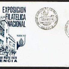 Sellos: EXPOSICION FILATELICA NACIONAL VALENCIA 1970. Lote 116540039