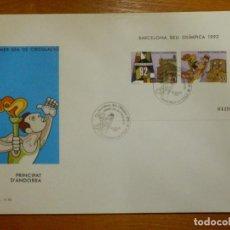 Selos: EDIFIL SH 200 A-B - ANDORRA - PRIMER DIA CIRCULACIÓN, 20-7-1987 SOBRE S.F.C. F.70. Lote 116652791