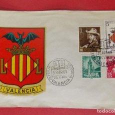 Sellos: SOBRE ESCUDO VALENCIA- MATASELLOS FERIA NACIONAL DEL LIBRO VALENCIA - 30 ABR 69 ... R-8794. Lote 117425707