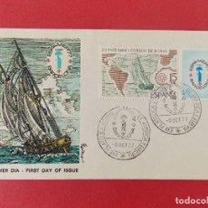 Sellos: SOBRE PRIMER DIA - II CENTENARIO CORREO DE INDIAS - ESPAMER 77 - BARCELONA - 8 OCT. 77 ... R-8802. Lote 117430171