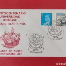 Sellos: SOBRE, QUINTO CENTENARIO UNIVERSIDAD BILINGUE - ARANDA DE DUERO (BURGOS) - 7 NOVIEMBRE 1987.. R-8806. Lote 117431583