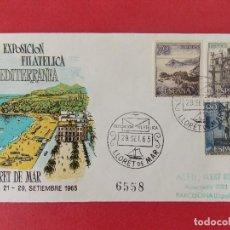 Sellos: MATASELLOS , EXPOSICION FILATELICA LLORET DE MAR 1965 , EN SOBRE ALFIL ILUSTRADO - CIRCULADO .R-8812. Lote 117442083