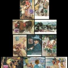 Sellos: EDIFIL 1566/75, SOROLLA: 10 TARJETAS MAXIMAS DE PRIMER DE 24-3-1964 SERIE COMPLETA . Lote 117835547