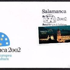 Sellos: SOBRE PRIMER DIA SALAMANCA 2.002 CIUDAD EUROPEA DE LA CULTURA. Lote 118519915