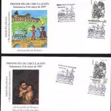 Sellos: 2 SOBRES PRIMER DIA EL LAZARILLO DE TORMES 1.977. Lote 118520047