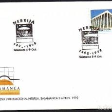 Sellos: SOBRE CONM. CONGRESO INTERNACIONAL NEBRIJA - SALAMANCA 92. Lote 118527311