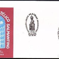 Sellos: SOBRE CONM. EXPOSICION GRUPO FILATELICO SALMANTINO 1993 - RETABLO CATEDRAL VIEJA. Lote 118529923