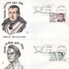 Sellos: PERSONAJES ESPAÑOLES 1978 (EDIFIL 2456/59) EN CUATRO SOBRES PRIMER DIA DE ALFIL MADRID. RAROS ASI.. Lote 118580603