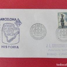 Sellos: SOBRE CIRCULADO -MATASELLOS EXPOSICIONES SAN JORGE DIPUTACION BARCELONA - AÑO 1974 ...R- 8929. Lote 118633887