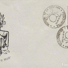 Sellos: AÑO 1963, VILLAVICIOSA (ASTURIAS), FESTIVAL DE LA MANZANA, EN SOBRE DE A MARIA POE EL SELLO. Lote 118934179