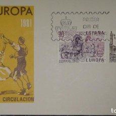Sellos: UN SOBRE PRIMER DIA ***EUROPA-CEPT. 1981*** EDIFIL 2615-16 - MADRID 04-05-81 - S.F.C.-A.558 (B). Lote 118934443
