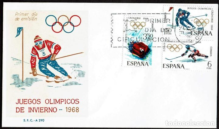 Spd Espana 1968 Edifil 1851 1853 X Juegos Ol Comprar Sobres