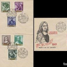 Sellos: EDIFIL 1498/67, PINTORES: RIBERA, PRIMER DIA DE 24-3-1963 EN 3 SOBRES DEL SFC. Lote 119221303