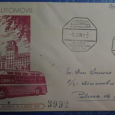 Sellos: SOBRE PRIMER DÍA. AÑO 1952. XXXV CONGRESO EUCARÍSTICO INTERNACIONAL. BARCELONA. ESTAFETA AUTOMÓVIL. Lote 119904159