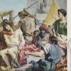 Sellos: EDIFIL 1470, TIEPOLO: LA CORONACION DE ESPINAS (EL PRADO) MATASELLO EXPOSICION (1962). Lote 119968107