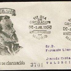 Sellos: ESPAÑA 1952 SPD -EDIFIL 1118 - IV CENT. MUERTE DE SAN FRANCISCO JAVIER. Lote 120312759