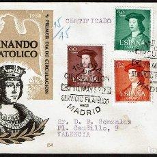 Sellos: ESPAÑA 1952 SPD -EDIFIL 1106/1110 - V CENT. NAC. FERNANDO EL CATÓLICO. Lote 120325723