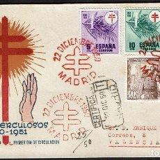 Sellos: ESPAÑA 1950 SPD -EDIFIL 1084/1087 - PRO-TUBERCULOSOS. CRUZ DE LORENA EN ROJO. Lote 120335779