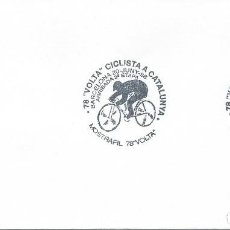 Sellos: 1998. BARCELONA. MATASELLOS/POSTMARK. VOLTA CICLISTA A CATALUNYA. CICLISMO/CYCLING. DEPORTES/SPORTS.. Lote 120647875
