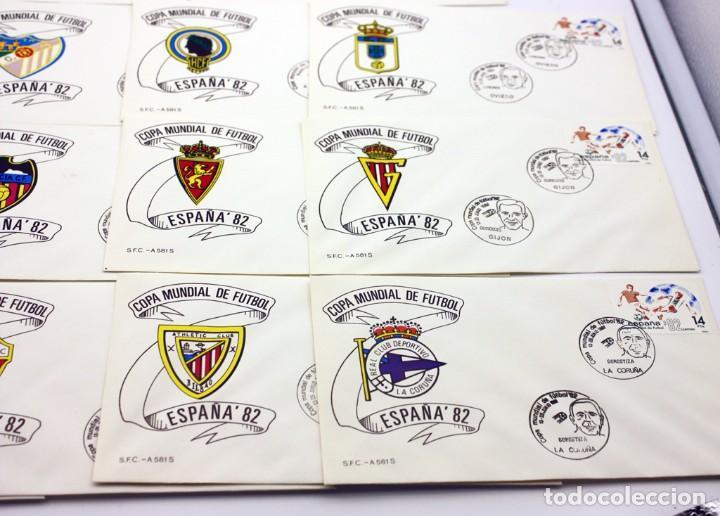 Sellos: ESPAÑA 82 - COPA MUNDIAL DE FUTBOL - 14 SOBRES DE LAS CIUDADES SEDES - MATASELLOS PRIMER DIA - Foto 5 - 120734287