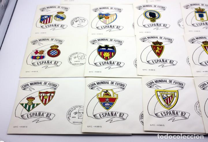 Sellos: ESPAÑA 82 - COPA MUNDIAL DE FUTBOL - 14 SOBRES DE LAS CIUDADES SEDES - MATASELLOS PRIMER DIA - Foto 6 - 120734287