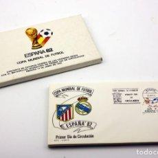Sellos: ESPAÑA 82 - COPA MUNDIAL DE FUTBOL - 14 SOBRES DE LAS CIUDADES SEDES - MATASELLOS PRIMER DIA. Lote 120734423