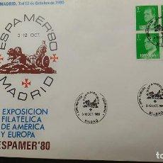 Sellos: SOBRE GRANDE. EXPOSICION FILATELICA DE AMERICA EUROPA. ESPAMER'80. MATASELLO BILBAO. SELLO JUAN C. I. Lote 120869975