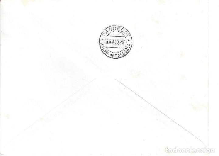 Sellos: BARCOS. CORREO A VELA MÓNACO - PALMA DE MALLORCA. DOCUMENTO FILATÉLICO Nº 000550. LUJO. - Foto 2 - 121171379