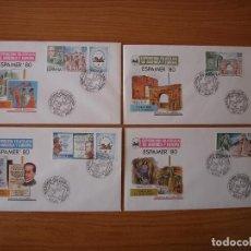 Sellos: SOBRES EXPOSICION FILATELICA ESPAMER´80 SERIE COMPLETA. Lote 121288787