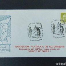 Sellos: SOBRE , 1ª EXPO FILATELICA DE ALCOBENDAS ( MADRID) - ORGANIZA ARAPA - AÑO 1988.. R-9262. Lote 121537027