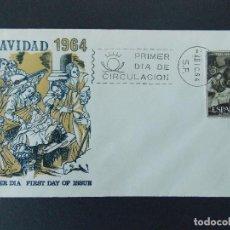 Sellos: SOBRE PRIMER DIA ALFIL - NAVIDAD 1964 - MATASELLOS MADRID - 4 DIC 64 - .... R-9287. Lote 121544667
