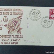 Sellos: SOBRE VI EXPO ROSAS DE PRIMAVERA - MATASELLOS SAN FELIU DE LLOBREGAT 1962.. R-9304. Lote 121851623