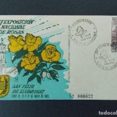 Sellos: SOBRE VII EXPO NACIONAL DE ROSAS - MATASELLOS SAN FELIU DE LLOBREGAT 1963.. R-9305. Lote 121852099