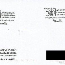 Sellos: ESPAÑA. MATASELLOS ESPECIAL. 50 ANIVERSARIO BANDA DE MUSICA. REAL CIUDAD DE GALDAR. 2017. Lote 121992043