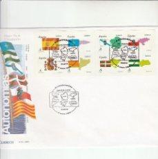Sellos: SOBRE PRIMER DIA CIRCULACION-EDIFIL 4446/4453-AUTONOMIAS 2009. Lote 122000943