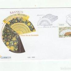Sellos: SOBRE PRIMER DIA CIRCULACION-EDIFIL 4454-ABANICO Y MANTON DE MANILA 2009. Lote 122001135