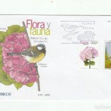 Sellos: SOBRE PRIMER DIA CIRCULACION-EDIFIL 4462/4468-FLORA Y FAUNA 2009. Lote 122001807