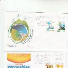 Sellos: SOBRE PRIMER DIA CIRCULACION-EDIFIL 4475/4478-ENERGIAS RENOVABLES-2009. Lote 122002199