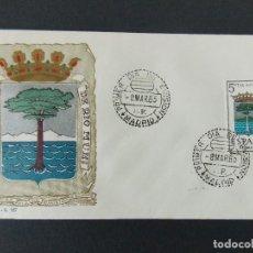 Sellos: SOBRE PRIMER DIA - ESCUDO RIO MUNI - MATASELLOS MADRID 1965.... R-9382. Lote 122074631