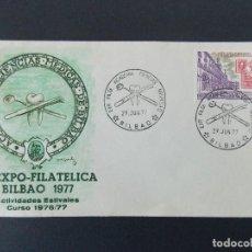 Sellos: SOBRE - IV EXPO FILATELICA ACADEMIA CIENCIAS MEDICAS - MATASELLOS BILBAO 1977... R-9388. Lote 122095035